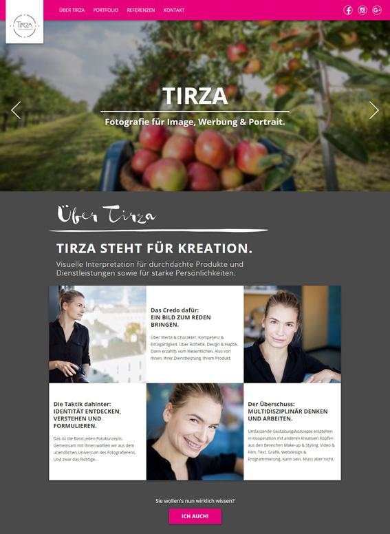 TIRZA photography, Webtexte